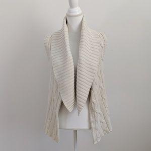 Calvin Klein Beige Open Front Cardigan Vest